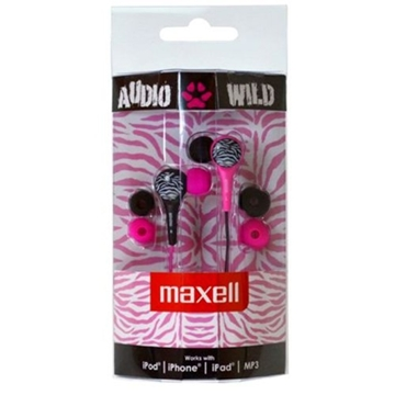 Слика на MAXELL AUDIO WILD BUDS EARPHONE PINK/BLACK