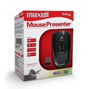 Слика на MAXELL WIRELESS PRESENTER 2.4GHZ LASER AIR MOUSE 1600DPI 4-IN-1